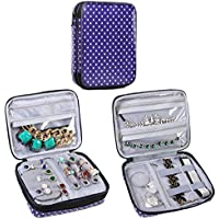 Teamoy Double Layer Jewelry Organizer Case for Earrings