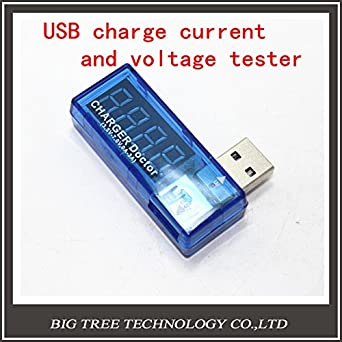 Generic Digital USB Mobile Power charging current voltage Tester Meter Mini USB charger doctor voltmeter ammeter 5pcs/lot Electrical Testing