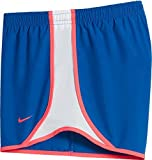 Girl's Nike Dry Tempo Running Short (Bluejay/White/Racerpink, X-Small)
