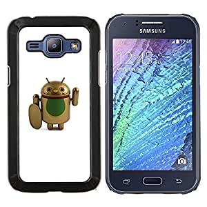 Eason Shop / Premium SLIM PC / Aliminium Casa Carcasa Funda Case Bandera Cover - Combatiente de Cure Cartoon Artificial - For Samsung Galaxy J1 J100