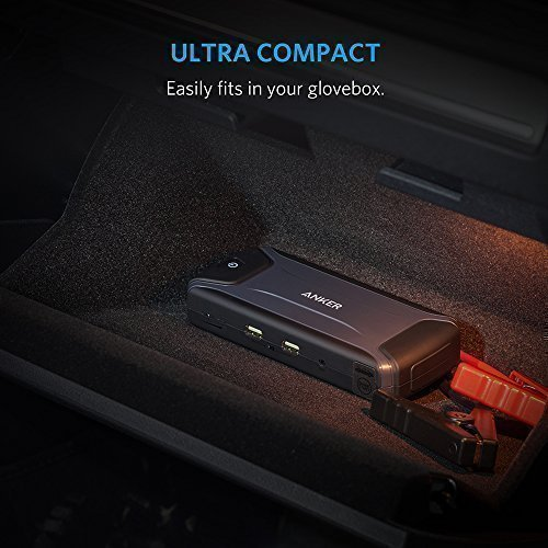 [Ultra Compact] Anker Compact Car Jump Starter and Portable Charger Power Bank with 400A Peak Current, Advanced Safety Protection and Built-In LED Flashlight