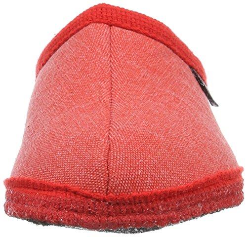 Haflinger Unisex-Erwachsene Kreta Pantoffeln Rot (Rubin)
