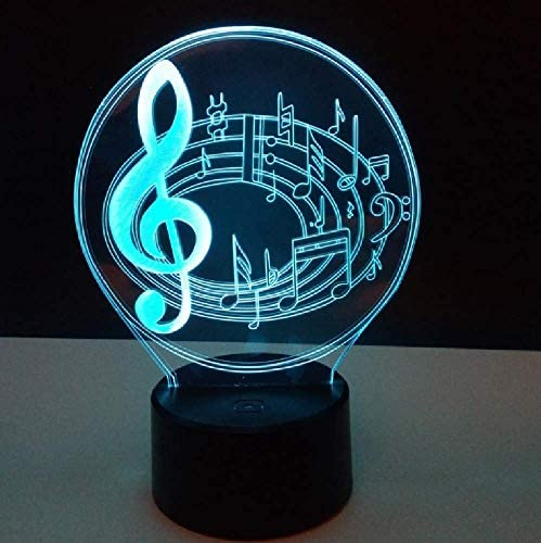 Note 3D Nightlight Bedroom Bedside Lamp Touch Switch 7 Color Change Usb Led Light Luminaria De Mesa 3D Light Fixtures