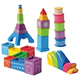big eiffel tower - World Buildings for Block Play Including Big Ben, Eiffel Tower, Leaning Tower of Pisa, Great Wall and Sydney Opera House