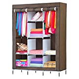 NEX Portable Clothes Closet Wardrobe Storage Closet Standing Closet Organizer With Non-Woven Fabric, Quick & Easy To Assemble, Strong And Durable(NX-C006)