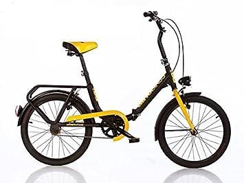 """Dino Bikes - Bicicleta plegable de 20"""", para niños de 8 a 10 años"""