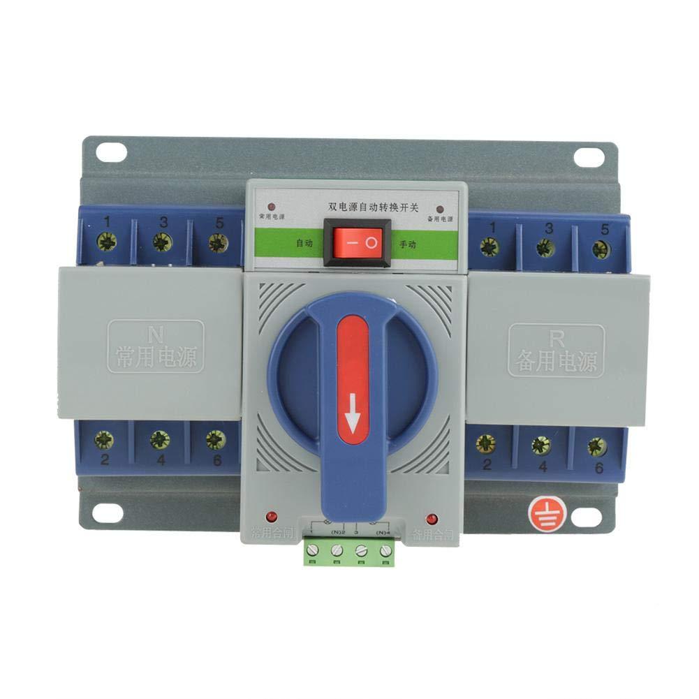 1pc 220V 63A 3P Mini Intelligent Dual Power Automatic Circuit Breaker Professional Transfer Switch