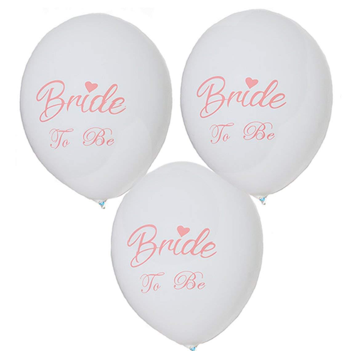 10pcs Bride To Be Latex Balloons 12 pollici Stampa Matrimonio Palloncini Decorazioni per feste Forniture per fotografia Puntelli
