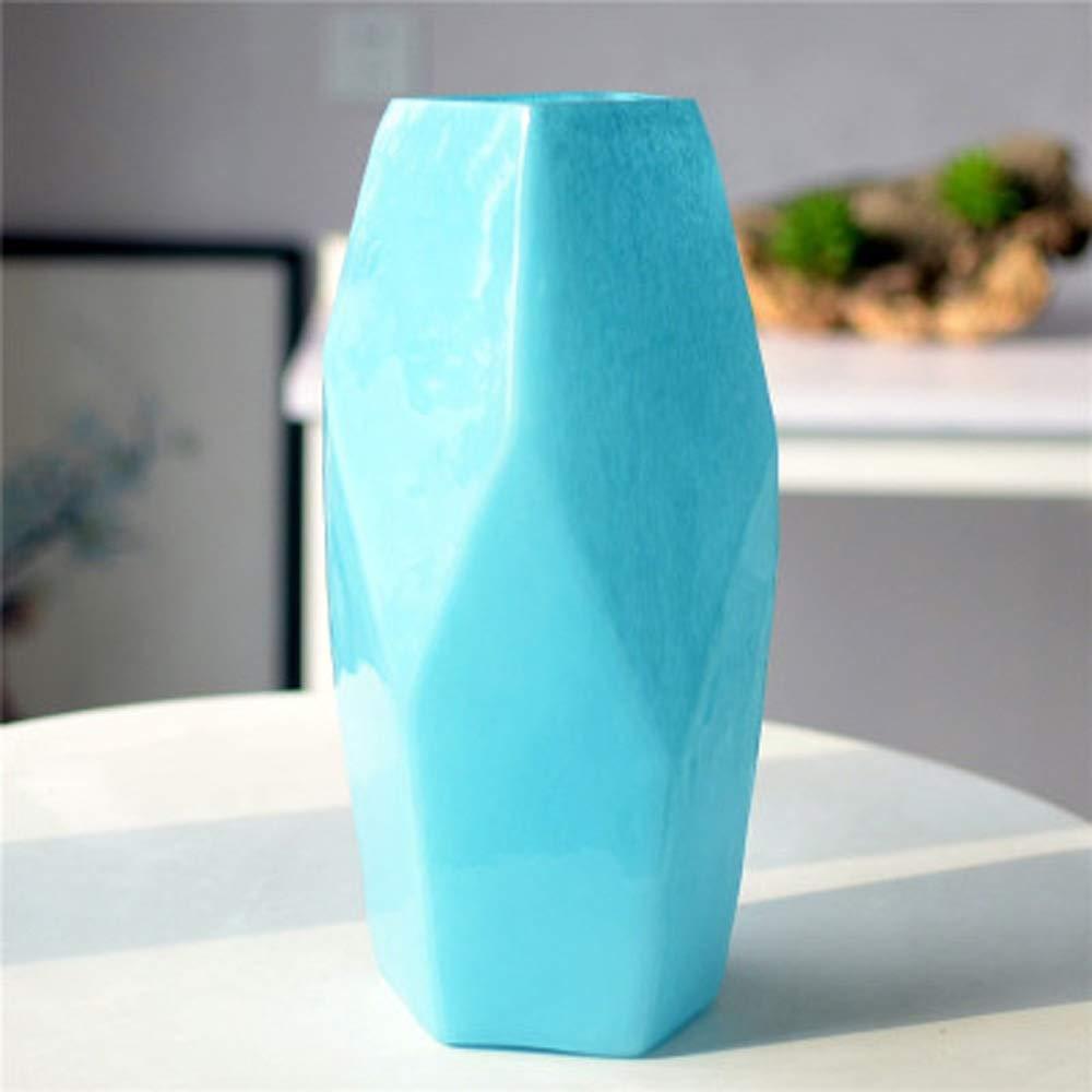 色ガラス花瓶用花緑植物結婚式の植木鉢装飾ホームオフィスデスク花瓶花バスケットフロア花瓶 (サイズ さいず : L l) B07QYFLSPN  L l