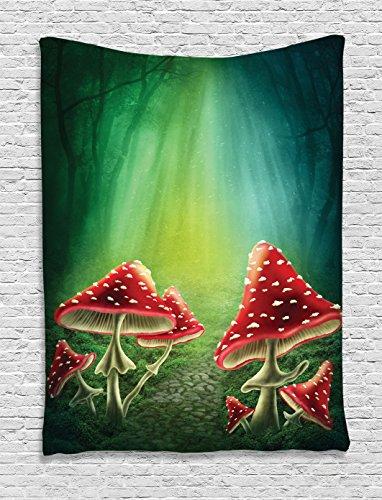 Mushroom Ambesonne Mushrooms Adventure Mysterious