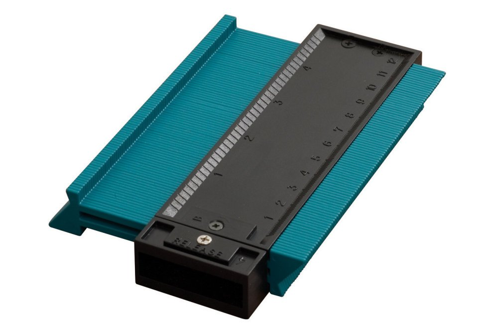 Wolfcraft 6926000 Copieur de Contour pour Rev/êtements de Sol Largeur 12,5 cm x Amplitude 4,5 cm