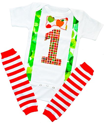 1st First Baby Boys Birthday Outfit Set Bow Tie 12-18 M Suspenders Kids Book Theme White ()