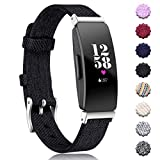 Maledan Replacement for Fitbit Inspire HR & Inspire Bands Women Men Large Small, Woven Fabric Accessories Strap Wrist Band Compatible with Fitbit Inspire & Inspire HR Fitness Tracker