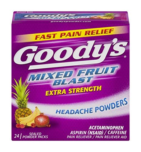 Goody's Extra Strength Headache Powders | Mixed Fruit Blast | 24 Count | 2 Pack