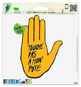 Amazon.com: Anti Racism Touche Pas a Mon Pote Vinyl Car Bumper Window