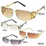 MLC Eyewear 'Cassia' Rimless Rectangle Sunglasses - Pearl Dust Limited Edition