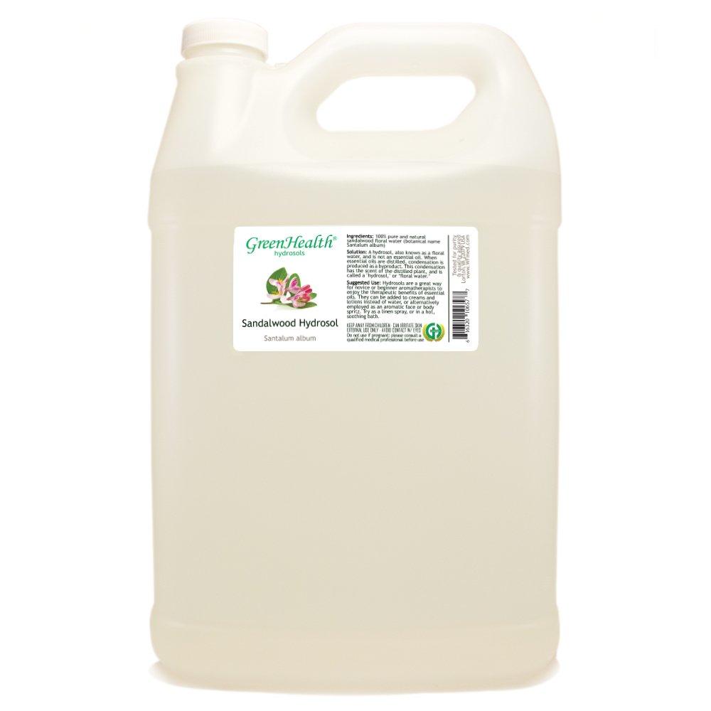 Sandalwood Hydrosol - 1 Gallon Plastic Jug w/Cap - 100% pure, distilled from essential oil by GreenHealth