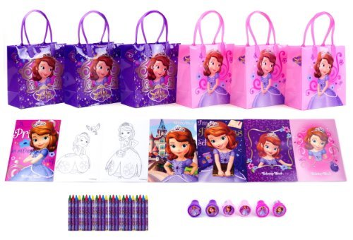 Sofia the First Party Favor Set - 6 Packs (42 Pcs) -