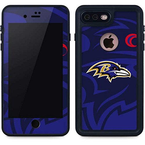 Skinit Baltimore Ravens iPhone 8 Plus Waterproof Case - Officially Licensed NFL Phone Case - Waterproof iPhone 8 Plus Cover