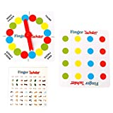 Dabixx Finger Twister Board Game, Funny Finger Twister Board Game Mini Table Toy Party Favor Valentine Gift