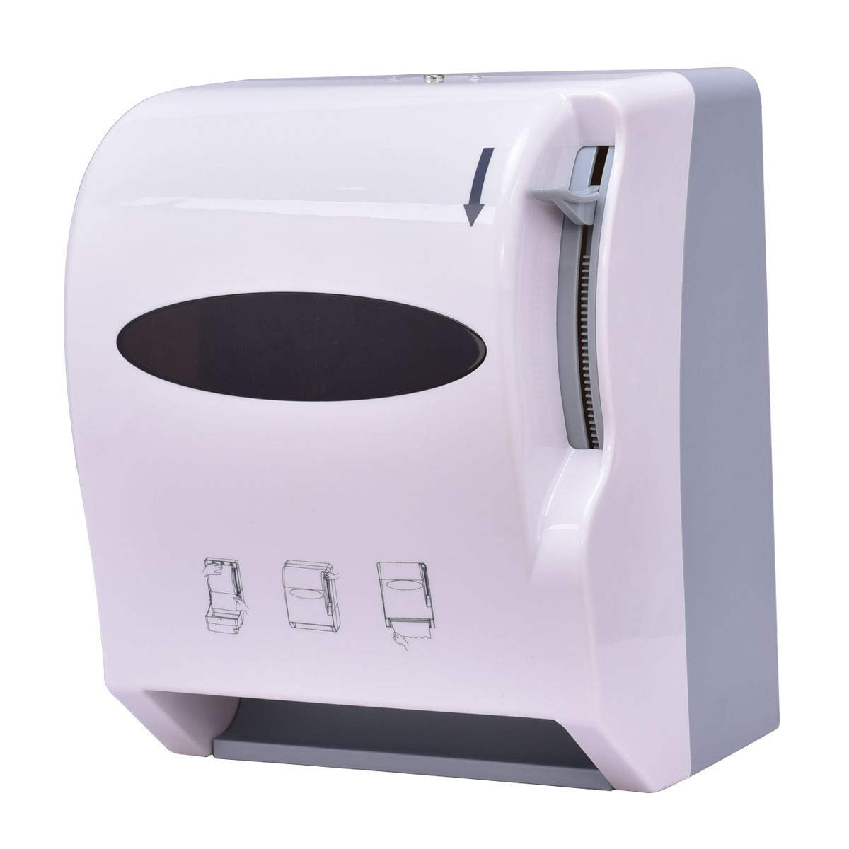 Good concept NEW Roll Paper Towel Dispenser Wall Mount Heavy Duty Commercial Home Use White