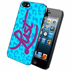 Blue Leopard Lust - Case Back Cover (iPhone 5/5s - Dual Layer)