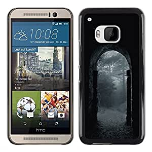Exotic-Star ( Night Rain Grey Gate Nature ) Fundas Cover Cubre Hard Case Cover para HTC One M9