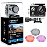 Photo : AKASO EK7000 Plus 4K 16MP WIFI Action Camera Adjustable View Angle 30M Waterproof Camera Remote Control Sports Camera with Helmet Accessories Kit and Filters