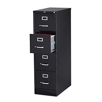 Amazing Lorell 4 Drawer Vertical File With Lock, 15 By 25 By 52 Inch