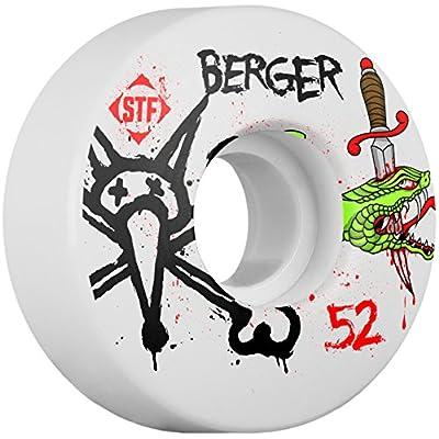 Bones Jeu de 4 Roues de Skateboard Stf V3 Berger Snake 52mm