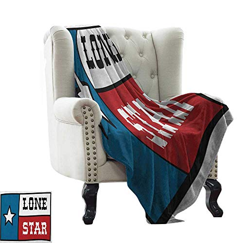 - warmfamily Texas Star,Lightweight Blanket,Lone Star Flag United States of America Themed Patriotic Design 70