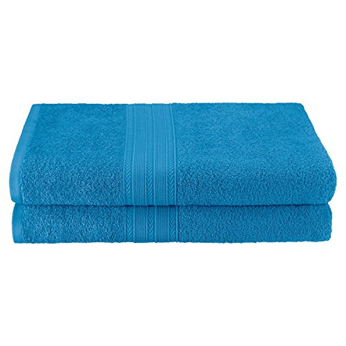 Superior Eco-Friendly 100% Ringspun Cotton, 2 Piece Bath Sheet Set (34
