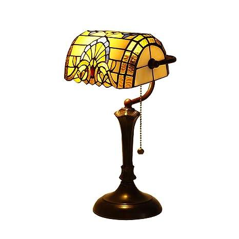 CCSUN Lámpara de mesa tiffany estilo mini,Barroco Luz ...
