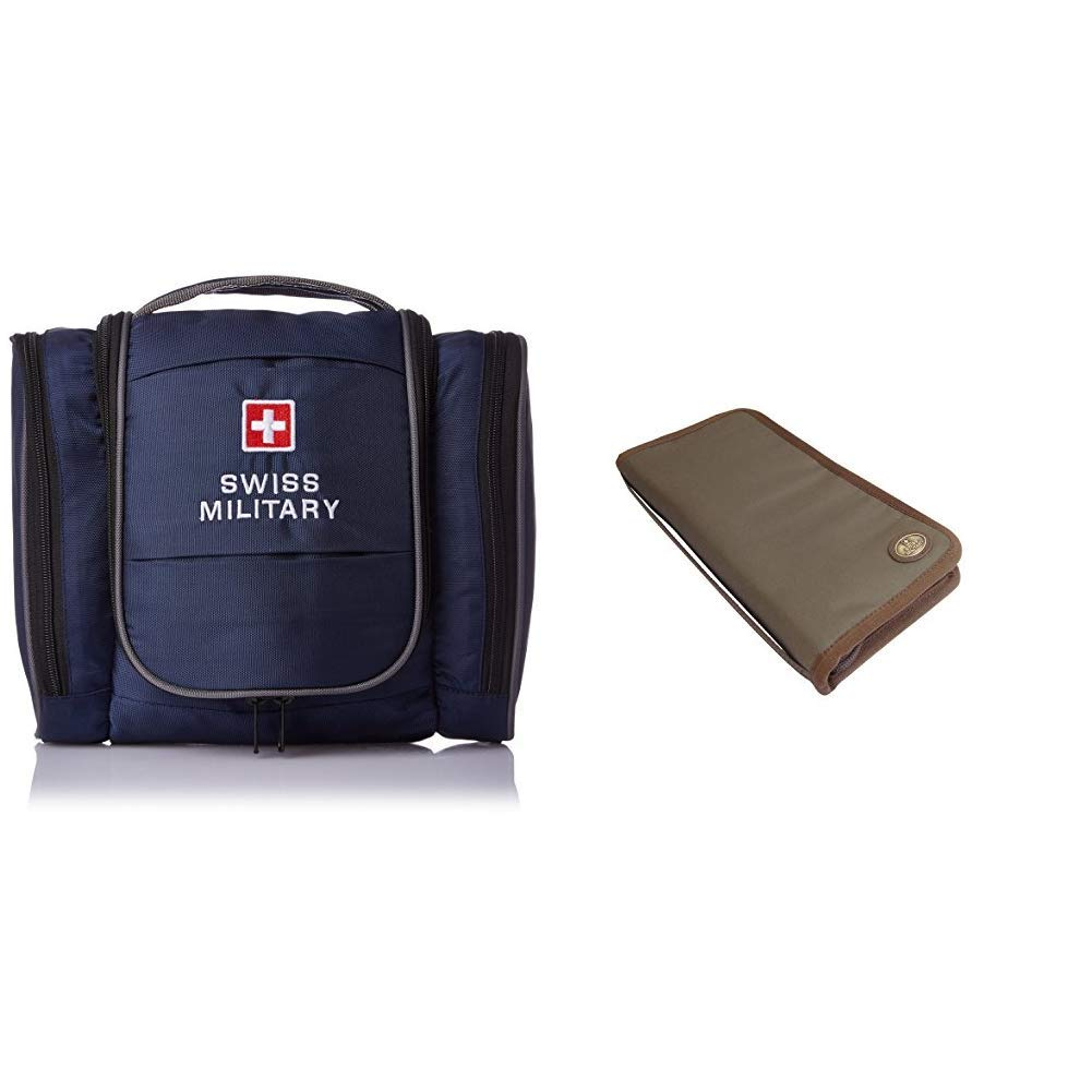 Swiss Military Blue Toiletry Bag + Green Unisex Passport Holder (TB-3 +  TW-2)  Amazon.in  Bags 0d692e09e3adc