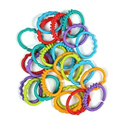 LLike a stick of gum or trusty hair tie, you'll always be glad to have a handful of these bendy, colorful links within reach. They're one of our bestsellers for a reason. While baby keeps busy twisting, squeezing, bending, smushing and whatev...