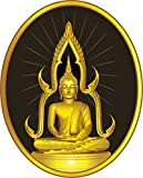Thai Sitting Buddha Statue Label Home Decal Vinyl Sticker 11'' X 14''