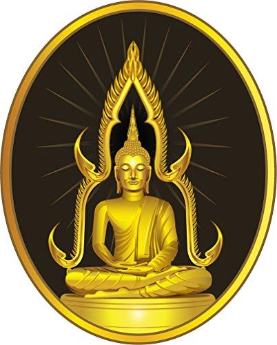 Thai Sitting Buddha Statue Label Home Decal Vinyl Sticker 11'' X 14'' by innagrom