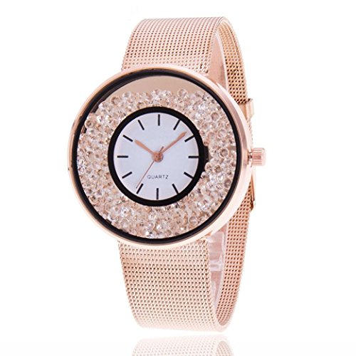 Women watch,YJYdada Fashion Women Beautiful Alloy Casual Watch Luxury Analog Quartz Watch (Rose Gold) ()