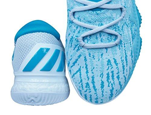 Adidas Crazylight Boost Lage 2016 Primeknit Heren Basketbal Sneakers / Schoenen Blauw