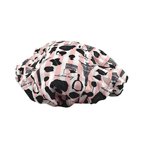 Betty Dain Socialite Collection Terry Lined Shower Cap, -