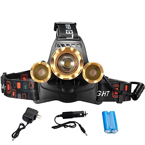 ZOOM 30000 LUMENS 3X XML T6 LED Headlamp Head Light Torch Lamp 2X 18650 Battery