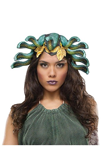 [Medusa Snake Latex Headpiece] (Medusa Headpiece Halloween Costume)