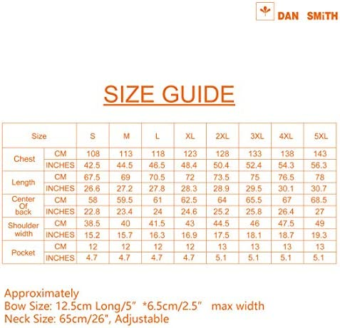Dan Smith Mens Fashion Italy Series Plain Microfiber Fashion Vest Matching Bow Tie With Bags