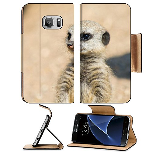 Liili Premium Samsung Galaxy S7 Flip Pu Leather Wallet Case A Meerkat watching out for the group Image ID - Out Of Coupons Africa Discount