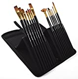 PROFESSIONAL ARTIST PAINT BRUSH SETS - Wide Variety 15 Piece Paintbrush Kits For Acrylic, Oil, Watercolor and Face Painting - Canvas Quality Art Supplies Kit for Artists and Kids PROMISEArt Fair Mall