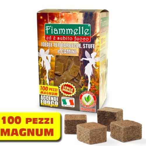 Confezione da 100 Cubetti ACCENDI FUOCO - Lunga Durata - Ecologico - Inodore NAPPI CERERIA