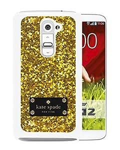New Fashion Custom Designed Kate Spade Cover Case For LG G2 White Phone Case 160