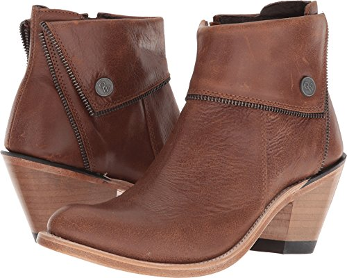 Old West Boots Women's Zippered Ankle Boot Brown 9 B US
