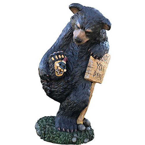 - Design House 328203 Wipe Your Paws Bear, 24-Inches