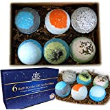 Organic Bath Bombs Gift Set For Men - Vegan Natural Ingredients - Made in the USA - Absolutely Safe for Men - Relaxing Epsom, Himalayan, Dead Sea Salts & Essential Oils